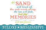 Biloxi, Mississippi - Beach Memories Last Forever - Lantern Press Artwork