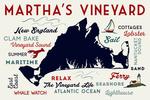 Martha's Vineyard, Massachusetts - Typography & Icons - Lantern Press Artwork