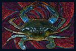 Blue Crab - Paper Mosaic - Lantern Press Poster