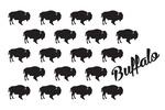 Pattern - Buffalo - Lantern Press Artwork