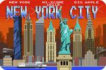 New York City, New York - 8-Bit Retro Video Game - Lantern Press Artwork