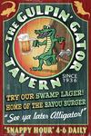 The Gulpin Gator Tavern - Vintage Sign - Lantern Press Artwork