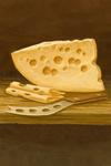 Swiss Cheese - Oil Painting - Lantern Press Artwork