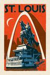 St. Louis, Missouri - Woodblock - Lantern Press Artwork