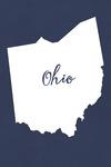 Ohio - Home State - White on Navy - Lantern Press Artwork