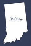 Indiana - Home State - White on Navy - Lantern Press Artwork