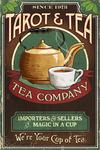 Tarot & Tea - Vintage Sign - Lantern Press Artwork