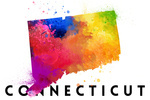 Connecticut - State Abstract Watercolor - Lantern Press Artwork