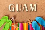 Guam - Flip Flops on Beach - Lantern Press Photography