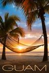 Guam - Hammock & Sunset - Lantern Press Photography