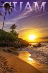 Guam - Sunset & Palm - Lantern Press Photography