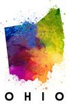 Ohio - State Abstract Watercolor - Lantern Press Artwork