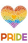 Gay Pride - Mosaic Heart - Lantern Press Artwork