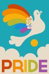 Gay Pride - Rainbow Bird - Lantern Press Artwork