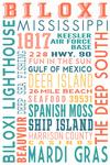 Biloxi, Mississippi - Typography - Lantern Press Artwork