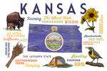 Kansas - Typography & Icons - Lantern Press Artwork