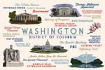 Washington, DC - Typography & Icons - Landscape - Lantern Press Artwork