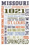 St. Louis, Missouri - Typography - Lantern Press Artwork
