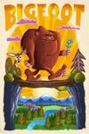 Bigfoot - Mid-Century Inspired - Lantern Press Artwork