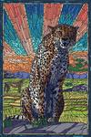 Cheetah - Mosaic - Lantern Press Artwork