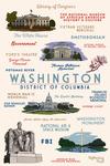 Washington, DC - Typography & Icons - Lantern Press Artwork