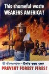 Smokey Bear - Weakens America - Vintage Poster