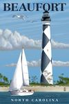 Beaufort, North Carolina - Cape Lookout Lighthouse - Lantern Press Artwork