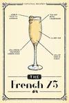 Prohibition - Cocktail Recipe - French 75 - Lantern Press Artwork
