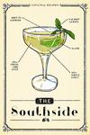 Prohibition - Cocktail Recipe - Southside - Lantern Press Artwork