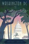 Washington, DC - Nation's Capitol - Lithograph - Lantern Press Artwork