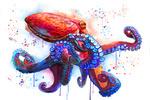 Octopus - Watercolor - Lantern Press Artwork