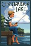 Chautauqua Lake, New York - Boy Fishing