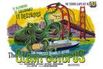 San Francisco, California - The Giant Octopus - B Movie Poster - Lantern Press Artwork