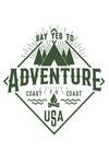 Say Yes to Adventure - Camping - Contour - Lantern Press Artwork