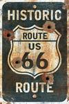 Route 66 Sign - Lantern Press Artwork