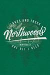 Northwoods, Minnesota - Lakes & Trees - Insignia - Lantern Press Artwork