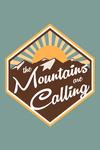 The Mountains are Calling - Vector - Contour - Lantern Press Artwork