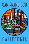 San Francisco, California - Graphic Montage - Lantern Press Artwork