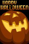 Happy Halloween - Halloween Jack o'Lantern - Vector - Lantern Press Artwork