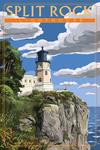 Minnesota - Split Rock Lighthouse - Lantern Press Artwork