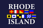 Rhode Island - Nautical Flags - Lantern Press Artwork
