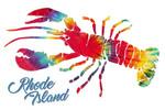 Rhode Island - Tie Dye - Lantern Press Artwork - Lantern Press Artwork