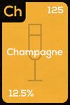 Periodic Drinks - Champagne - Lantern Press Artwork