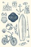 Edisto Beach, South Carolina - The Beach Life - Lantern Press Artwork
