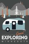 Minnesota - Go Unplug (Camper) - Lantern Press Artwork