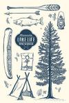 Minnesota - The Lake Life - Lake Collage - Lantern Press Artwork