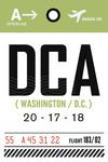 Washington DC - DCA - Luggage Tag - Lantern Press Artwork