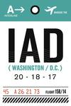 Washington DC - IAD - Luggage Tag - Lantern Press Artwork