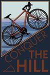 Conquer the Hill - Road Bike - Lantern Press Artwork