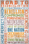 Road to Reconciliation - Typography - Lantern Press Artwork